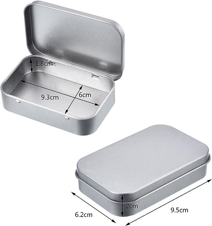 ROSENICE 12 St/ücke kleine Metalldosen Silber Multifunktions Aufbewahrungsbox Container aus Metall f/ür Kleinteile Lagerung