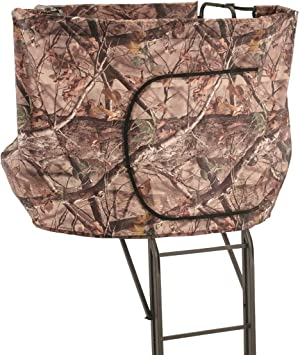 Guide Gear 2 Person 20′ Double Rail Ladder Tree Stand Hunting Blind