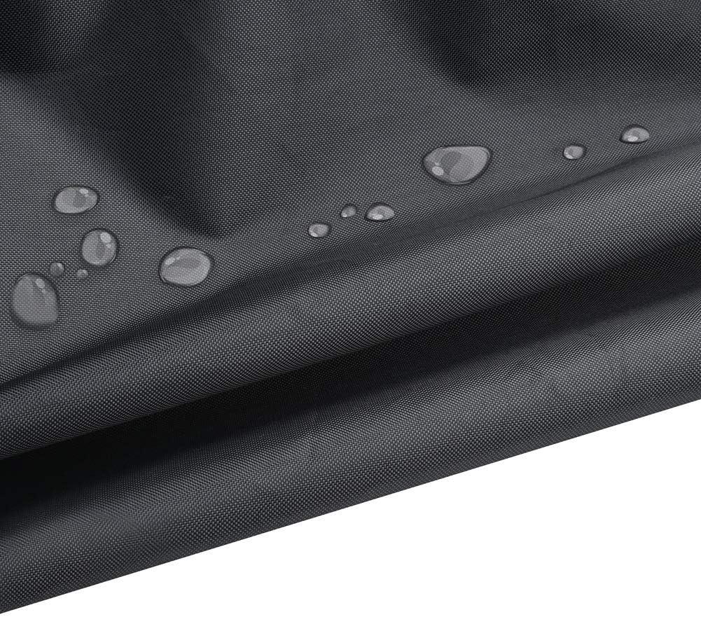 Schaukeleier-Stuhl-Abdeckung Fishroll Schaukelstuhl-Abdeckung Schwarz 115 * 190cm M/öbel-Regenschutz H/ängesessel