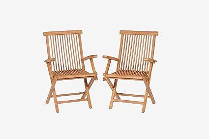 Amazon.com: Teca Plegable Brazo de sillas. (teca) dorado ...