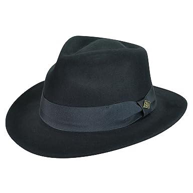 9b90eb95fc0d4 Goorin Bros. Men F. Fratelli Fedora Black S M at Amazon Men s Clothing  store