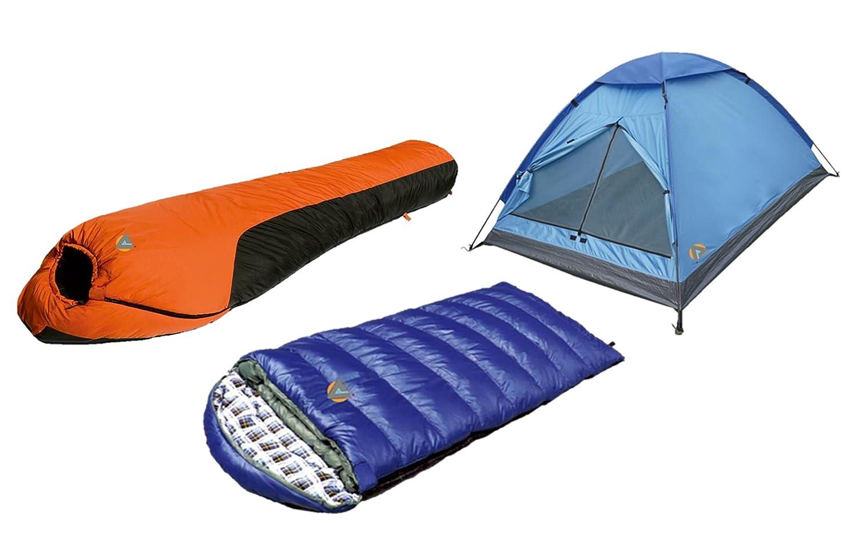 Alpinizmo High Peak USA Kodiak 0F /& Water Proof 0F Sleeping Bags 3 Men Tent Comb Set Blue//Orange One Size HP 763