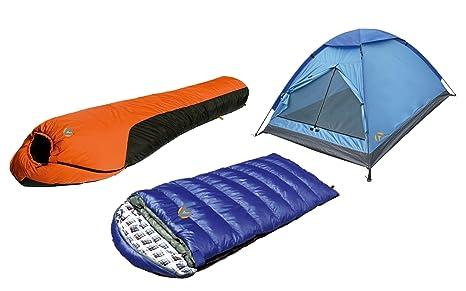High Peak USA Alpinizmo Kodiak 0F & resistente al agua 0F sacos de dormir 3 hombres