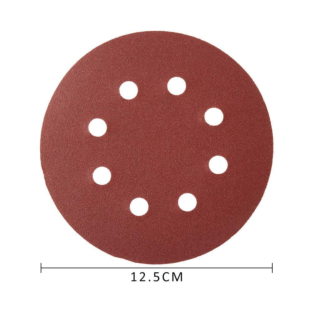 125 mm Schleifscheibe Sandpapier f/ür K/örnung von Rundschleifer 80//180//240//320//400//800//1000//1500//2000//3000 100 St/ück Schleifscheibe