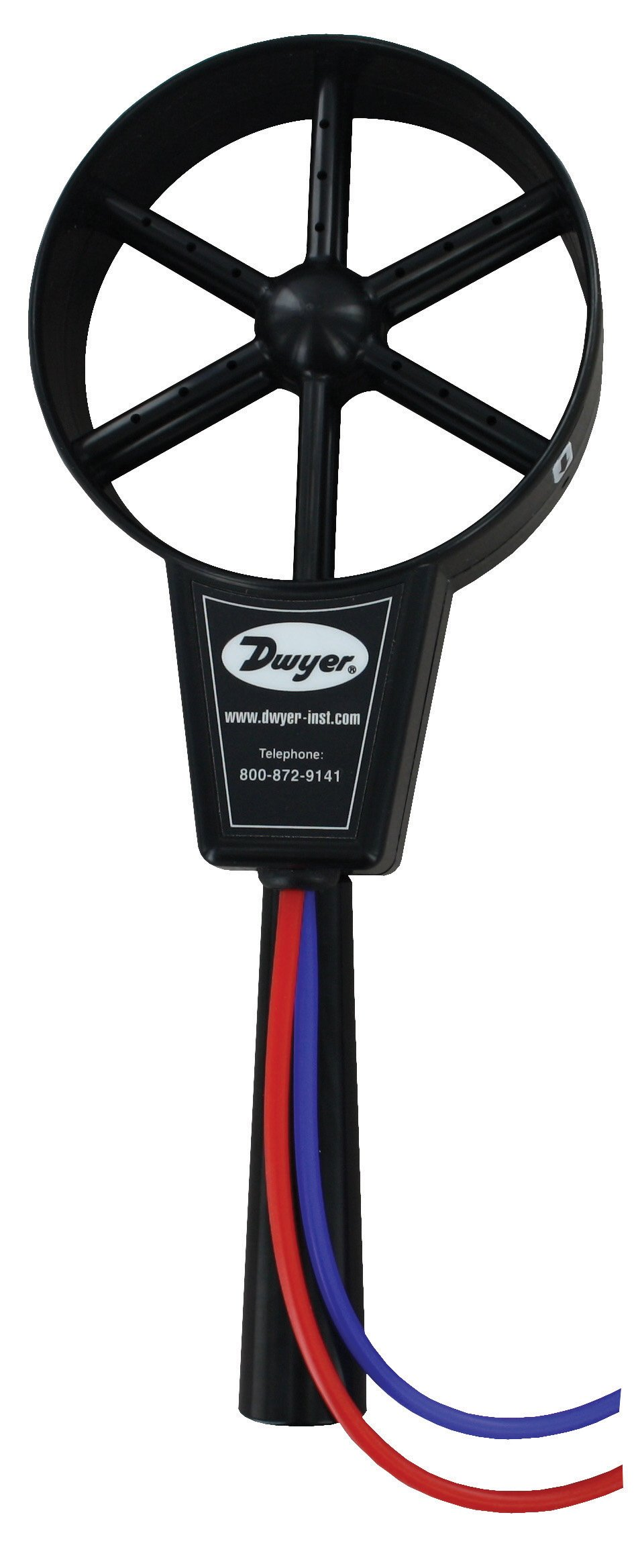 Dwyer ANE-1 Bi-Directional Differential Pressure Anemometer. No Moving Parts or Sensing Electronics. Connects to Any Manometer or Pressure Sensor. Wide Velocity Range. Silicone tubing included.