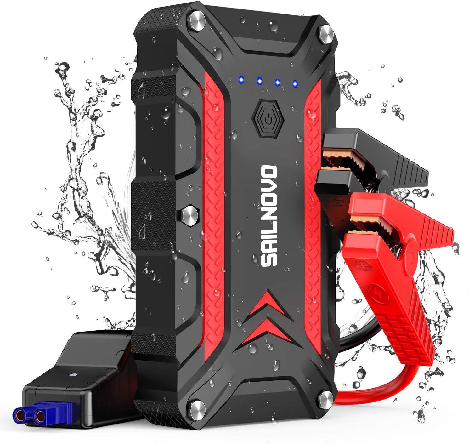 Tools & Equipment Sailnovo 1200A Waterproof Car Jump Starter With ...