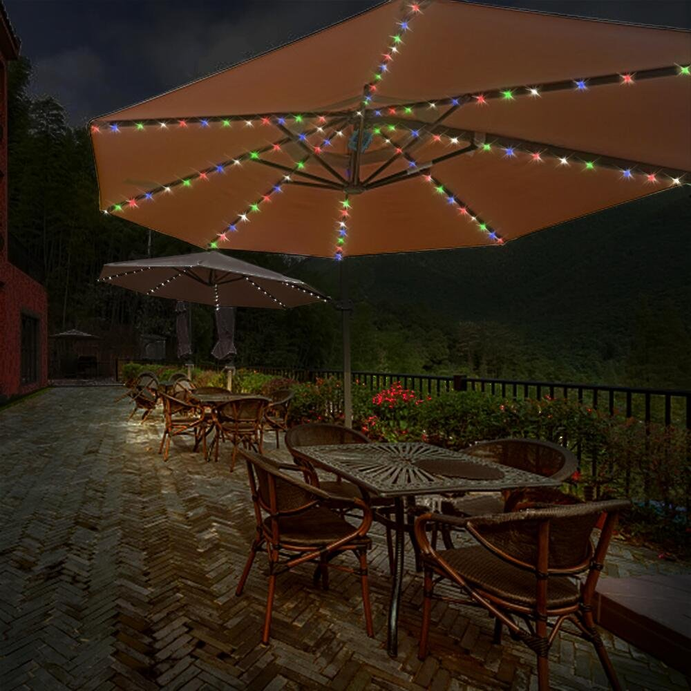Umbrella Lights, Koffmon 8 Lighting Mode 104 LED with Remote Control Umbrella Lights Battery Operated Waterproof Outdoor Lighting, for Patio Umbrellas/Outdoor Use/Camping Tents (Multi-Color) by Koffmon (Image #3)