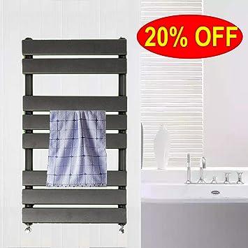 Toallero de alta calefacción, escalera de panel plano, color antracita, 800 x 450 cm, calentador de baño, calefacción central, color gris: Amazon.es: Bricolaje y herramientas