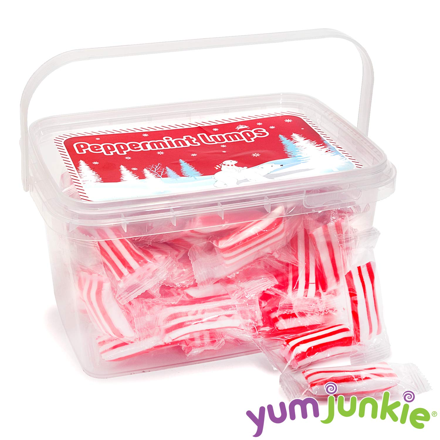 Sassy Peppermint Lumps Hard Candy - 80-Piece Tub by YumJunkie