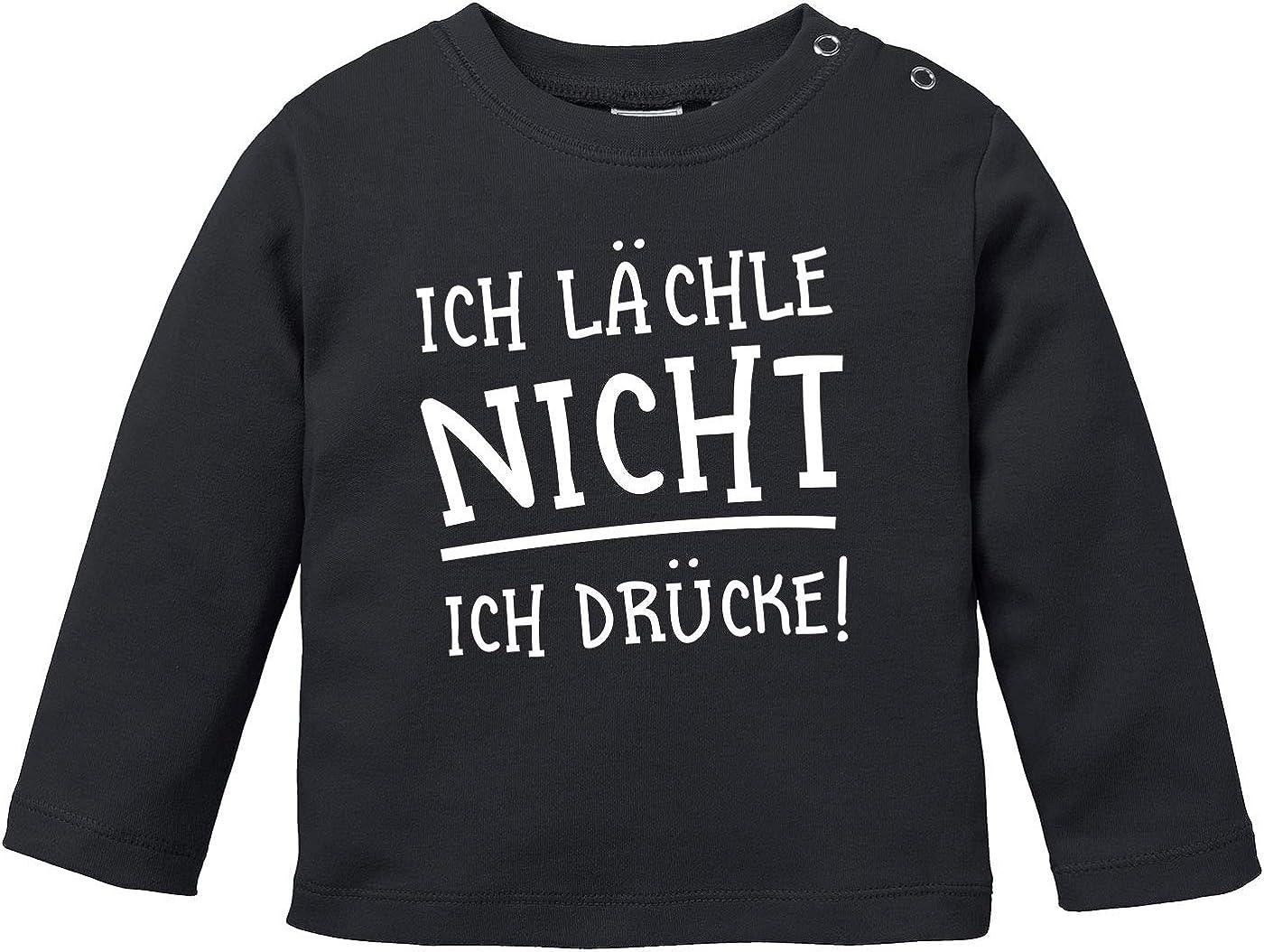 MoonWorks/® Baby Langarmshirt mit lustigem Spruch Ich l/ächle Nicht Ich dr/ücke Babyshirt Jungen M/ädchen