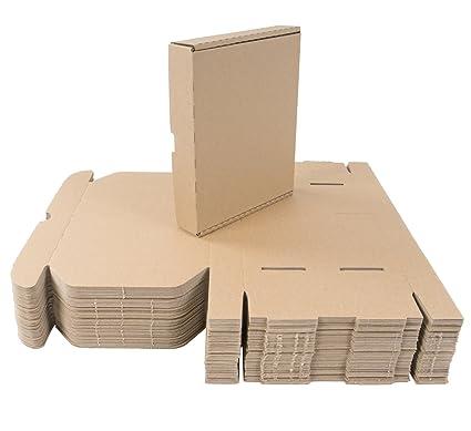 50 Caja 22 x 18 x 4 cm Cajas de Cartón Plegables de Cartón Grande –