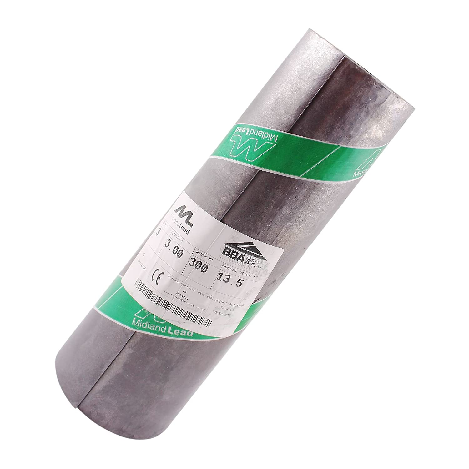 4m of 300mm Wide 12' inch Code 3 Lead Flashing Roll Roof Roofing Repair Midland Lead