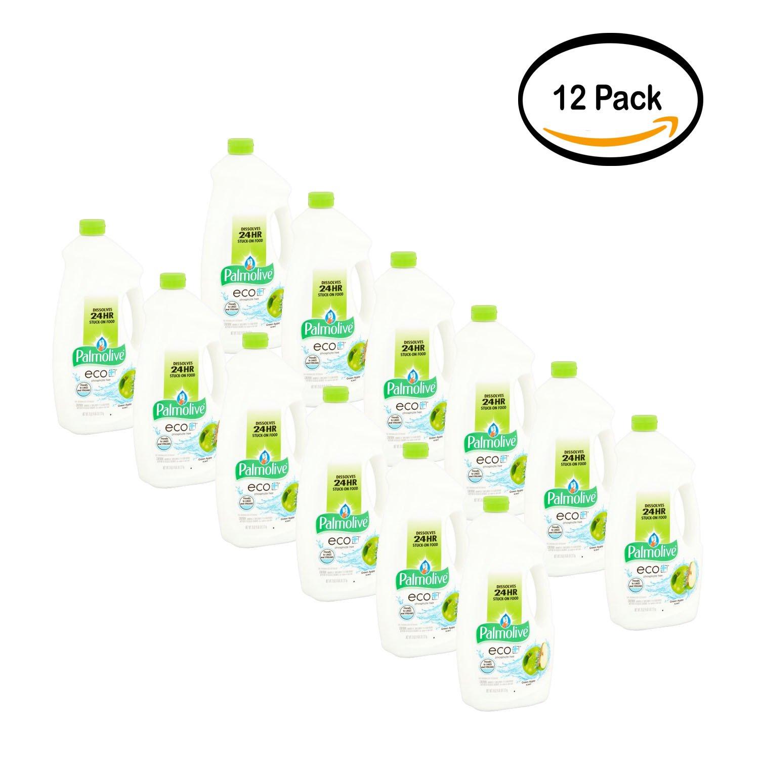 PACK OF 12 - Palmolive Eco Gel Dishwasher Detergent, Citrus Apple - 75 fluid ounce