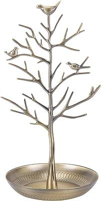 ChezMax Outdoor Antique Birds Tree Stand Jewelry Display