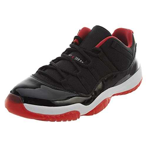 new arrivals 52e6c 9f5db ... where to buy nike mens air jordan 11 retro low basketball shoes black  red white f1ee7