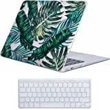 Coque MacBook Air 13 Case , iCasso Palm Leaf Pattern Brillante Plastique Ultra Slim étui Housse de Protection Hard Rigide Cover Shell Pour MacBook Air 13 Pouces (Modèle: A1369 / A1466)