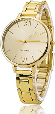 Women Quartz Watches, RKISO Ladies Casual Wrist Watch Classic Analog Crystals Stainless Steel Watch Gift