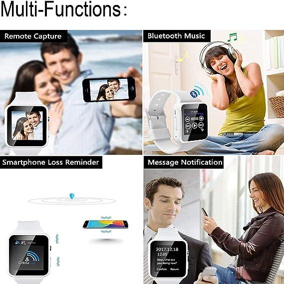 Bluetooth Smart Watch with Camera Women Men Smart Watches Touch Screen Unlocked Watch Support SIM Card Slot Watch Pedometer Sport Bracelet Compatible ...