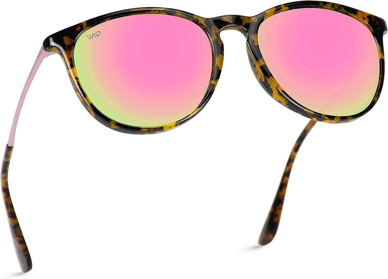 WearMe Pro - Round Retro Polarized Lens Classic Sunglasses for Women