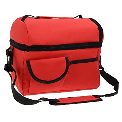8af0f4d1c892 Amazon.com: Walmeck Large Capacity Insulated Square Lunch Bag Cooler ...