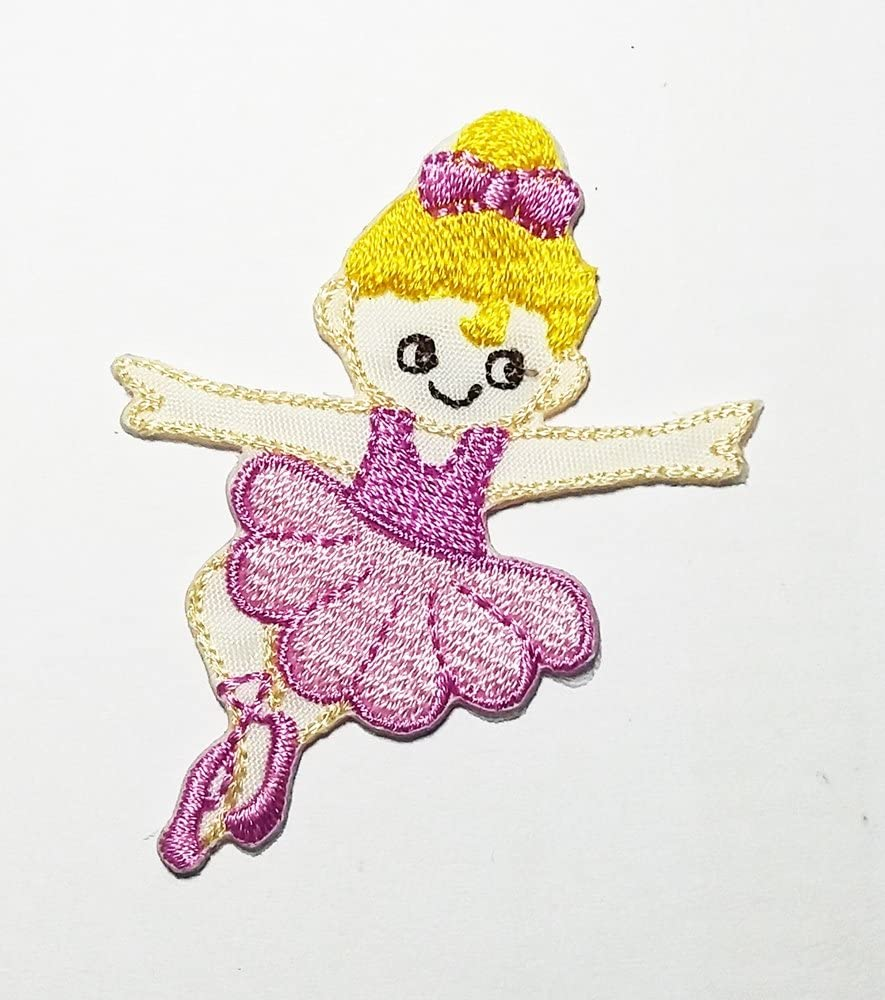 Dancing Ballerina Dancer Girl Cartoon Patch Embroidered Sew Iron On Patches Badge Bags Hat Jeans Shoes T-Shirt Applique