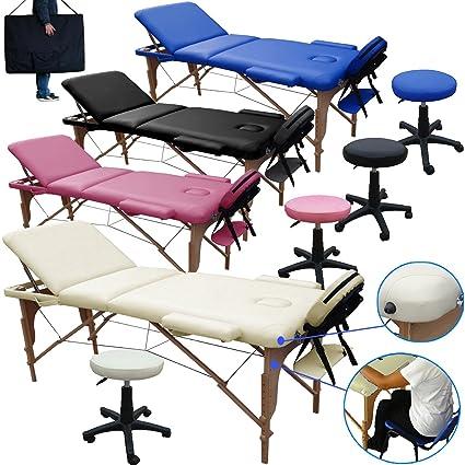 Lettino Massaggio 3 Zone In Legno Dimensione 195 225 X 70 Cm