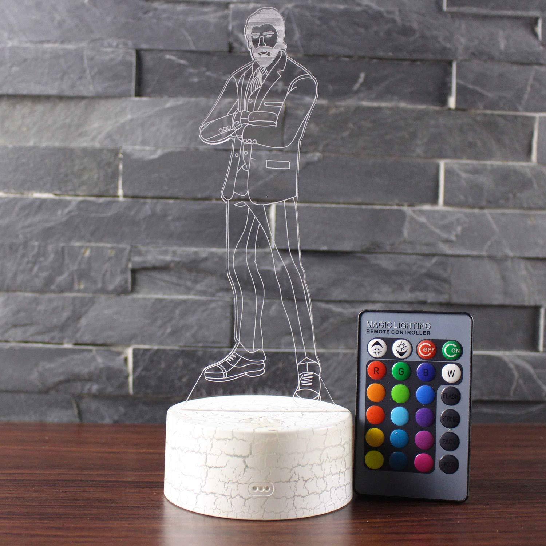 Veilleuse Fortnite 3D Illusion Visuelle Lampe LED Lampe De Table De Bureau 7 Color Touch Lampe Home Bedroom Office Decor pour Enfants Cadeau De Noël UGUI Model 11