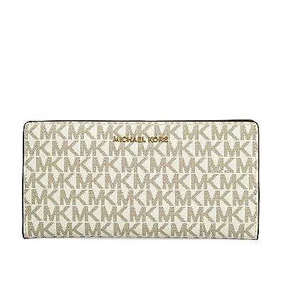 a4ab92095d7 MICHAEL Michael Kors Jet Set Logo Slim Wallet, Color 149 Vanilla/Acorn