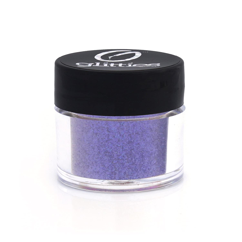 GLITTES NAIL ART Iridescent Fine Glitter Powder-for gel nail polish, gel and acrylic nail powder (Blazing Blue) Glitties Nail Art