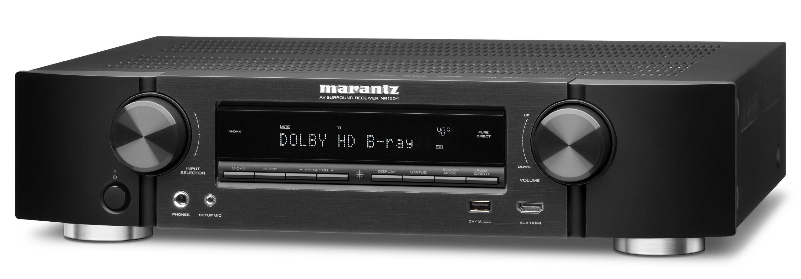 Marantz NR1504 Slim Line 5.1 Channel Home Theater Network AV Receiver with AirPlay