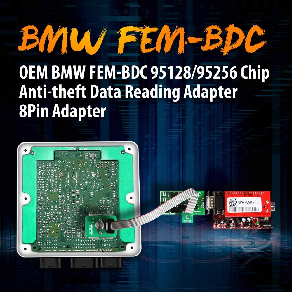 VXSCAN FEM-BDC 95128//95256 Adaptateur de Lecture de donn/ées antivol 8 Broches Compatible avec VVDI Prog//CG Pro 9S12//Orange5