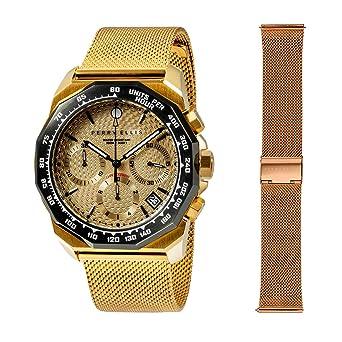 Perry Ellis 09010-04#MB106 - Reloj analógico de Cuarzo para ...