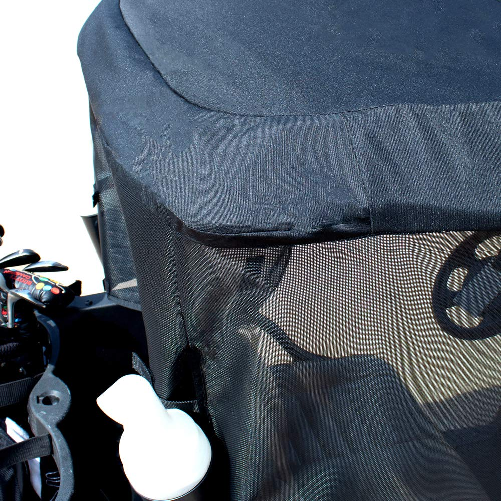 Greenline 2 Passenger Golf Cart Sun Shade by Eevelle - Yamaha, Club Car, EZGO - Made in USA (EZGO RXV Golf Cat, Black/Black) by Greenline (Image #6)
