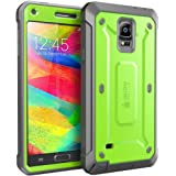Samsung Galaxy Note 4 Case, SUPCASE [Heavy Duty] Belt Clip Holster Case for Galaxy Note 4 [Unicorn Beetle PRO Series] Full-body Rugged Hybrid Protective Cover with Built-in Screen Protector (Green/Gray), Dual Layer Design + Impact Resistant Bumper