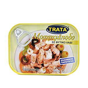 Greek Trata Canned Musky Octopus From the Aegean Sea in Vegetable Oil 100gr