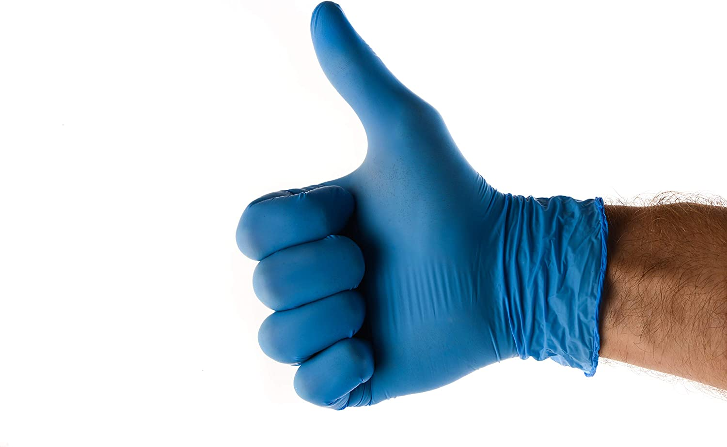 EcoQuality - Nitrile Exam Gloves Large 100ct - Disposable, Latex Rubber Free, Powder Free, Medical Exam Gloves, Non Sterile, Food Safe, 4 Mil, Indigo Color, Convenient Dispenser