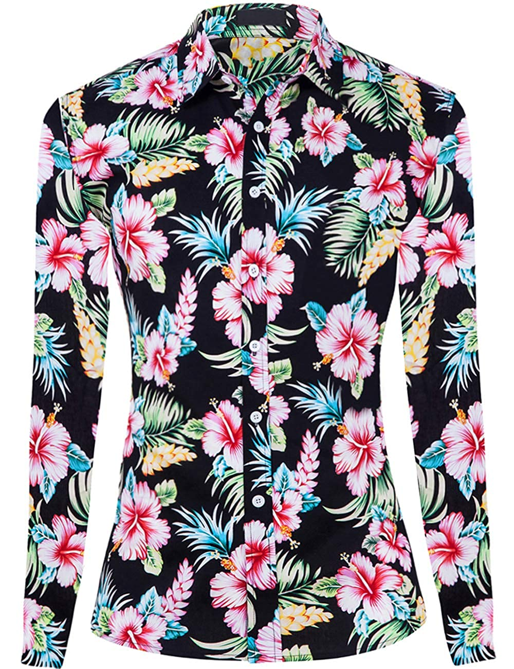 Amazon.com: DOKKIA Women's Tops Vintage Casual Shirts Cotton Long Sleeve  Work Button Up Dress Blouses: Clothing