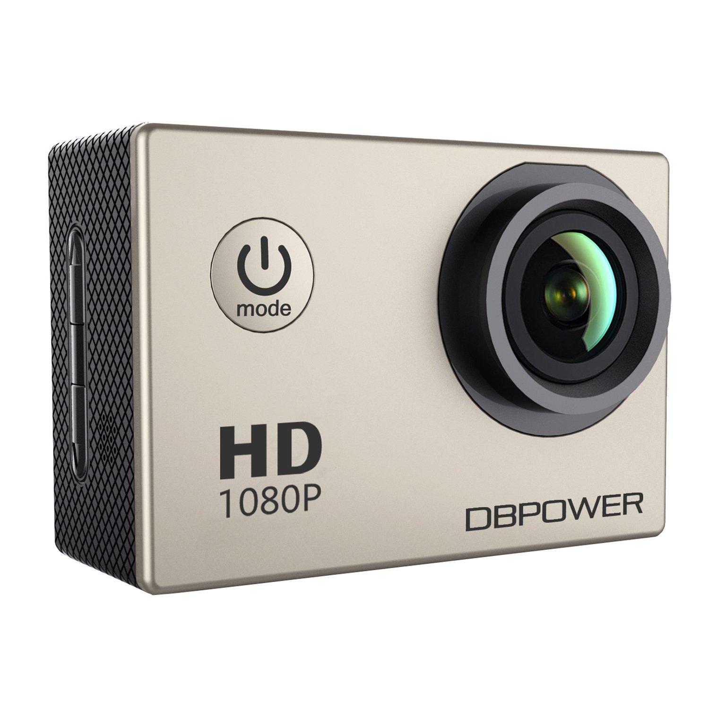 DBPOWER Sport Actionkamera 1080P Mini 30M Wasserdicht 12MP 170 Grad Weitwinkel 1, 5 Zoll LCD HD Display mit Batterien und Accessoires (SJ4000-Silber)