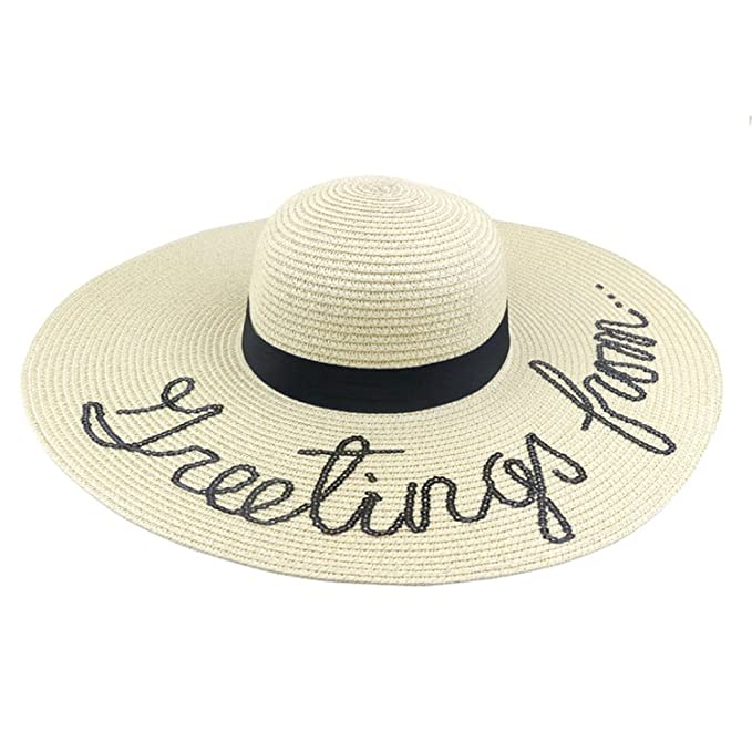 6aedf00a919 Summer Women Sun Hat Ladies Wide Brim Straw Hats Outdoor Foldable Beach  Panama Hats Church Hat