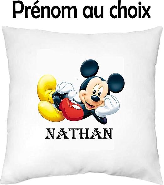 GRAVOPHOTO - Funda de cojín niños Personalizada Mickey ...