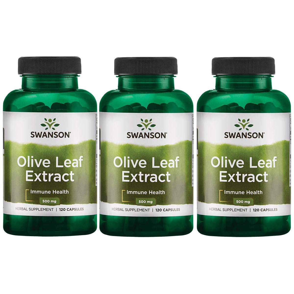 Swanson Olive Leaf Extract 500 mg 120 Caps 3 Pack