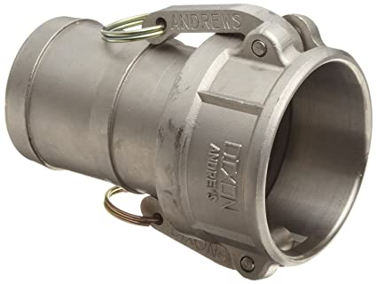 Dixon 75-E-SS Stainless Steel 316 Boss-Lock Type E Cam and Groove Hose Fitting 3//4 Plug x 3//4 Hose ID Barbed