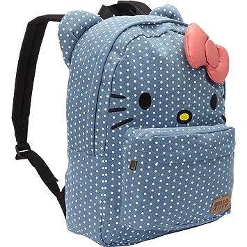 Loungefly Hello Kitty Denim Polka Dots Backpack  Amazon.co.uk  Toys ... 45241dea7c
