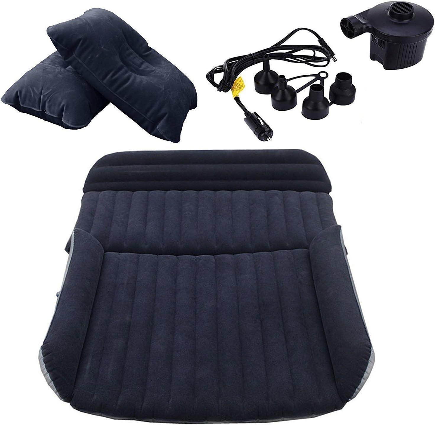 LABABE SUV Auto Coche colchón de Aire Inflable Cama para Asiento Trasero de Coches SUV Camiones y de tamaño Medio de la al Aire Libre Viajes, PVC, SUV Black, Unfold Size: 70.9×50×4.7inches