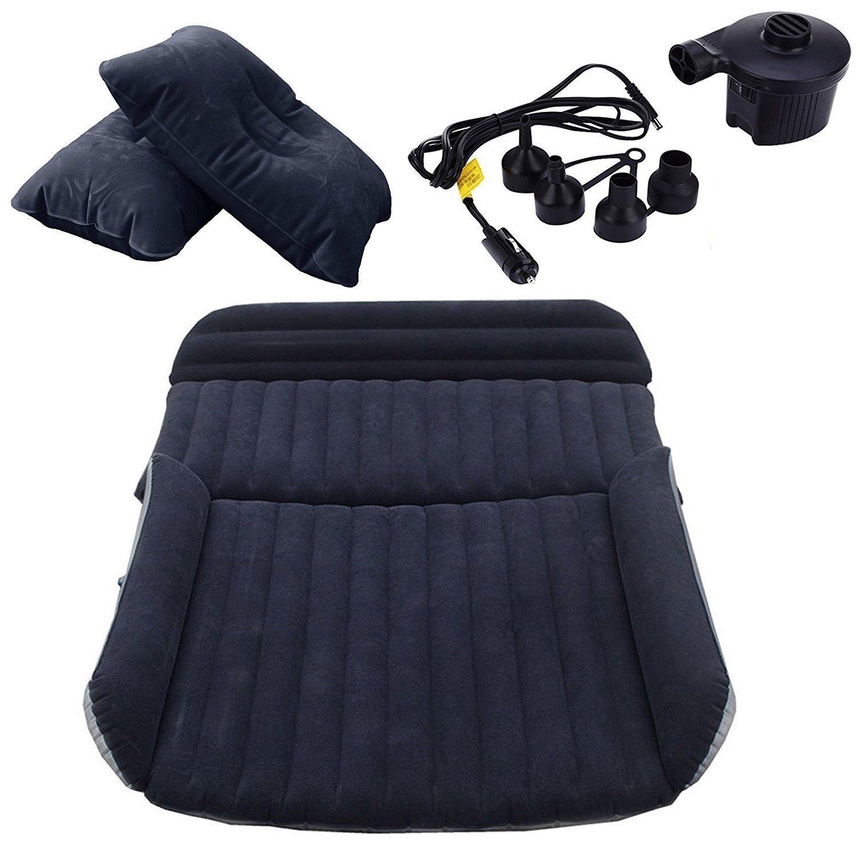 2 aufblasbare Kissen Und Luftpumpe LABABE Auto Travel aufblasbares Bett Luftmatratze Camping Auto Verl/ängerte Matratze beflockt aufblasbares Auto Kissen Universal Auto Reisen Air Bett