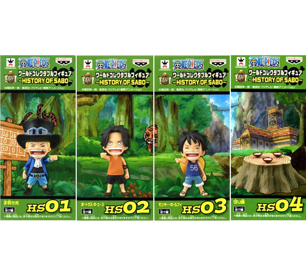 Piece World Collectable figures HISTORY OF SABO 4 species (Sabo children Ace children Luffy children and stumps) Banpresto