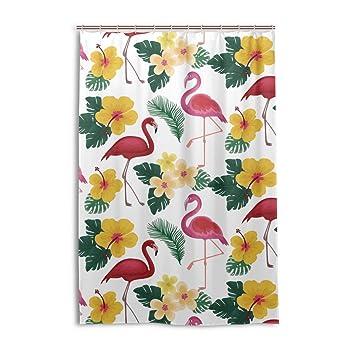 Sommer Flamingo Mit Tropischen Vorhang Für Die Dusche Bad Vorhänge Mit  Haken Polyester 121,