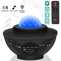 Starry Sky Projector, LED Projector Starry Sky Lamp with Remote Control Starry Star Moon/Water Wave Wave Effect/Bluetooth Speaker Perfect for Gifts/Decoration/Kids/Adults