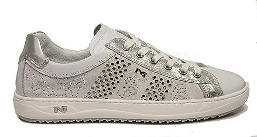 Sneaker Nero Giardini P805100D 707 5090 scarpe donna sportive bianche