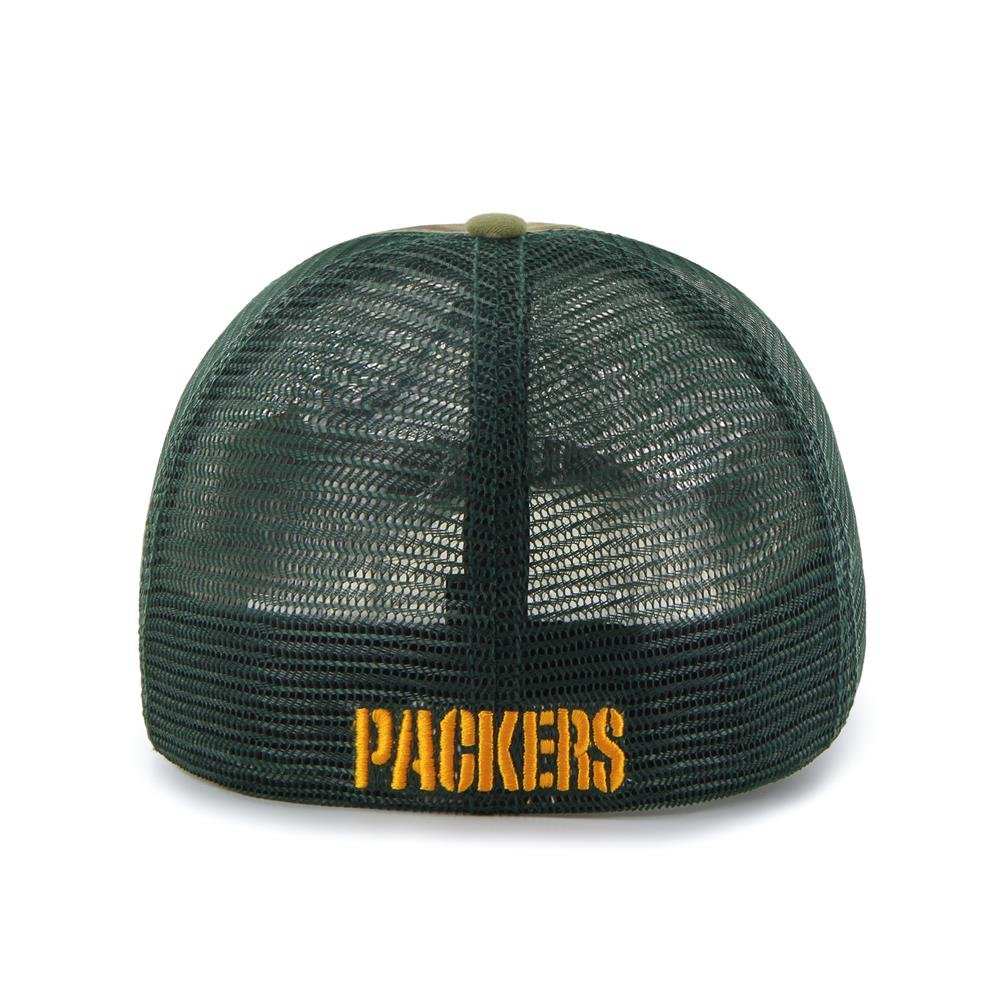 7ddc60278 Green Bay Packers Hat Flex Fit Camouflage Mesh Compass Closer 12134